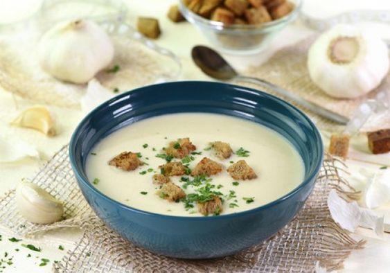 Krémová polévka se svítkem z krupice