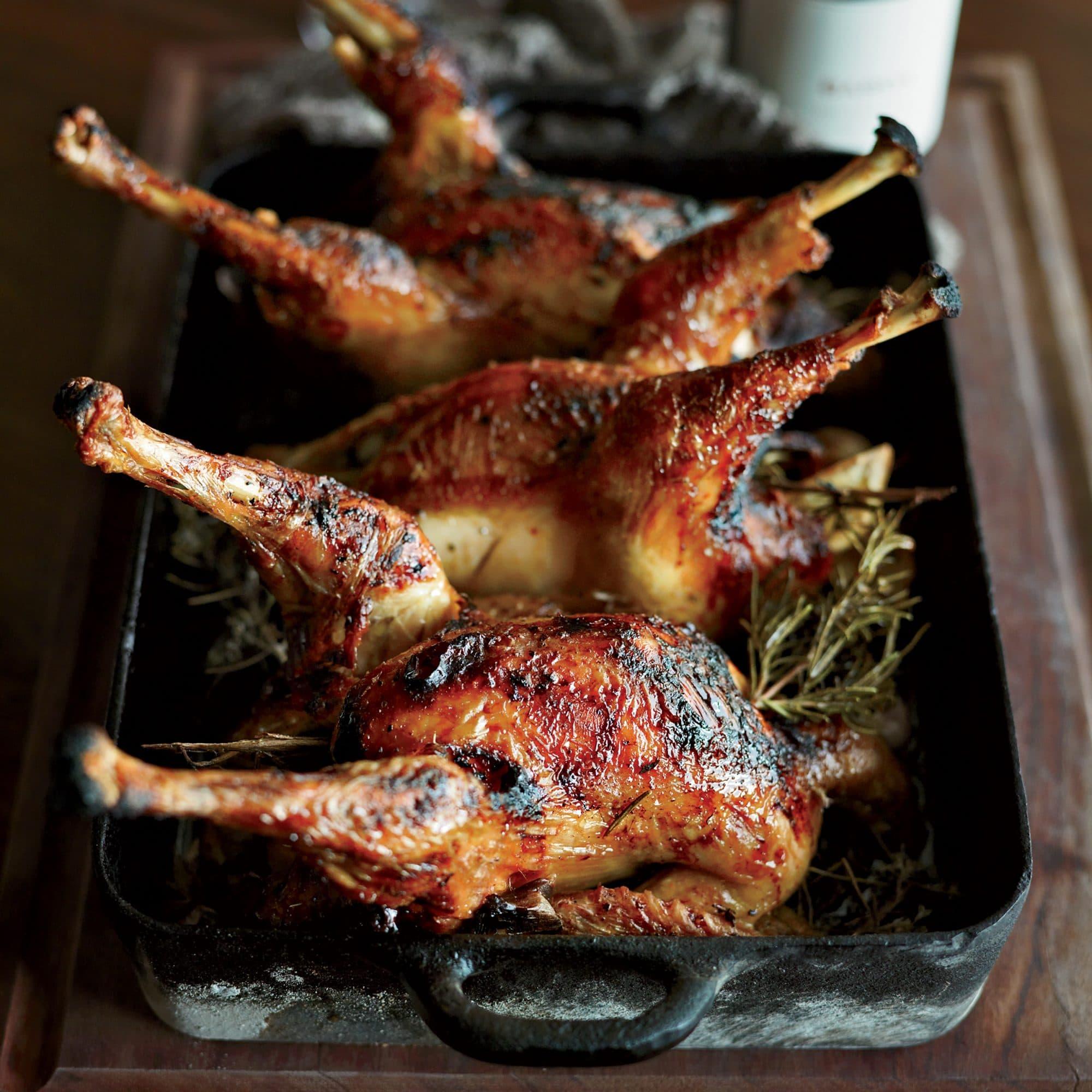 Medová kuřata na pekingský způsob.