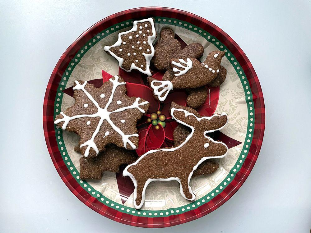 Žitné vánoční perníčky s medem.
