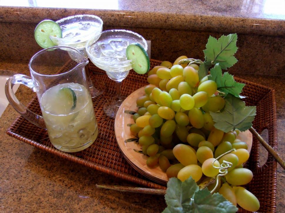 Připravený nápoj z hroznů