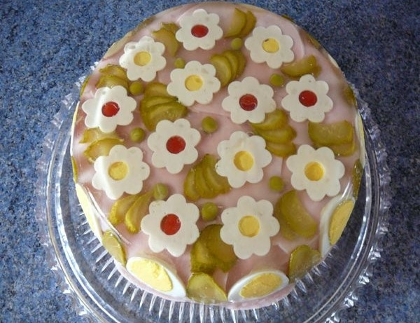 Aspikový slaný dort