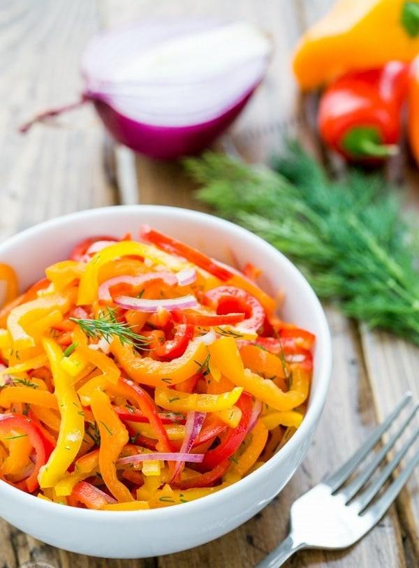 Čerstvý paprikový salát