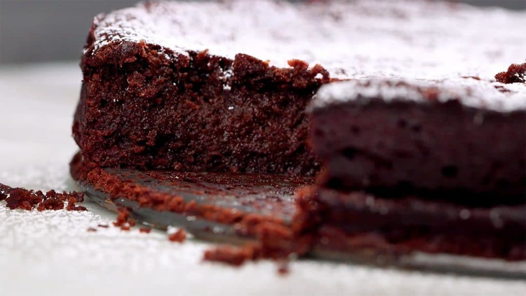 Jednoduchý dort z cokolady bez mouky