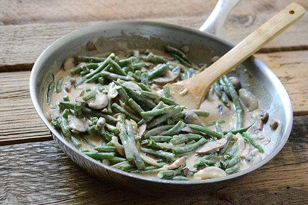 Recept na fazolové lusky na smetaně