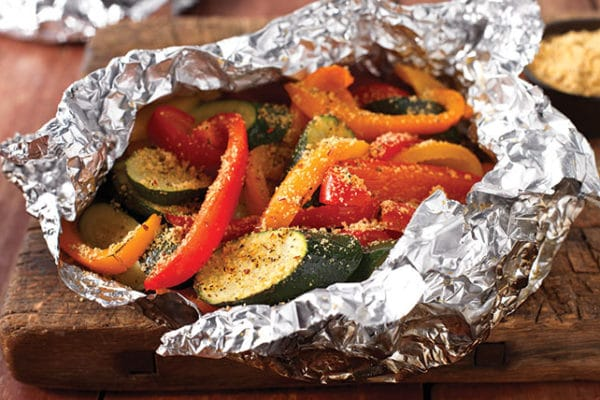 Grilovaná toskánská zelenina s parmazánem