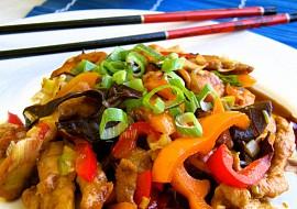 Recept na krútí čínu s houbami