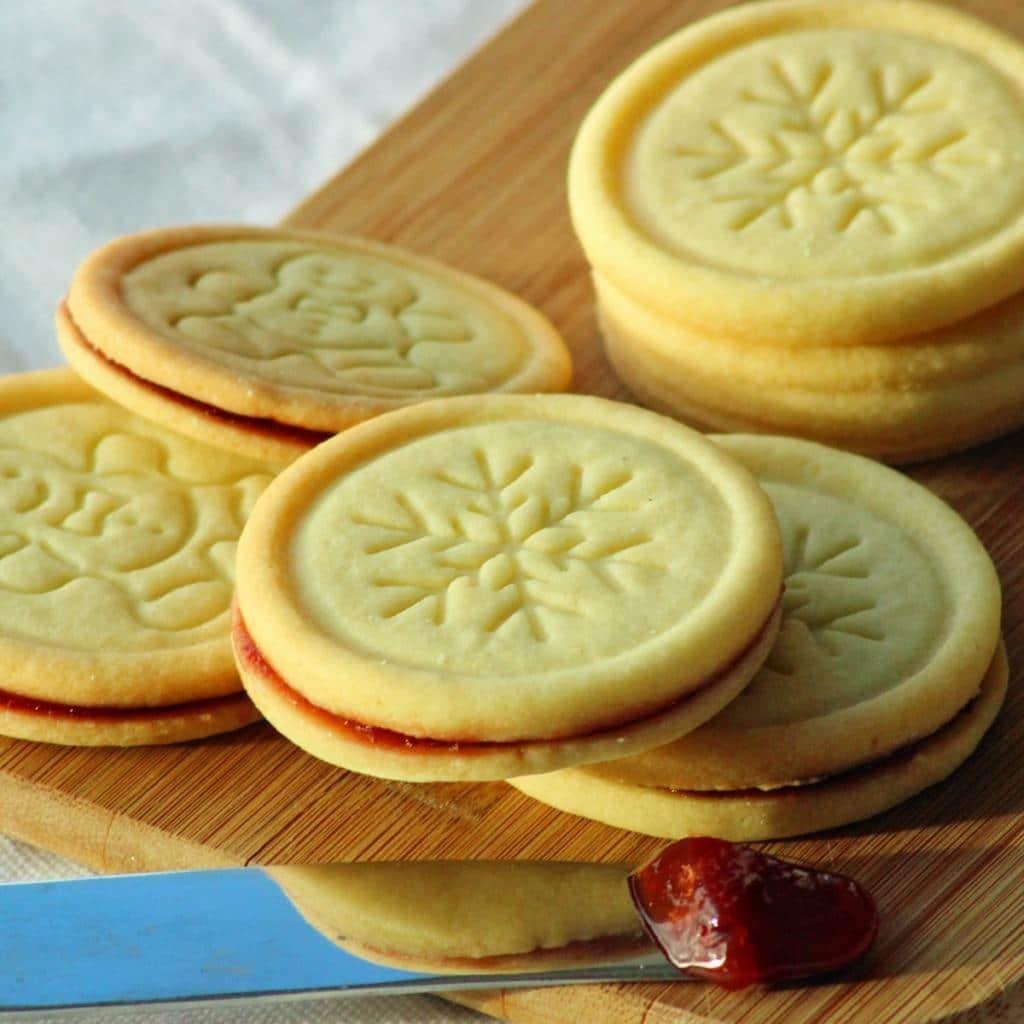 Lisované linecké vánoční sušenky