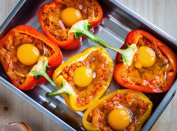 Hotový recept na papriku plněnou vejci