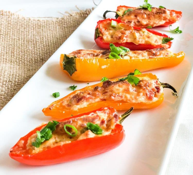Hotový recept na papriky s tvarohem