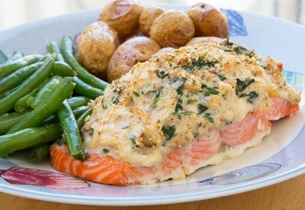 Recept na pečenou rybu s nádivkou.