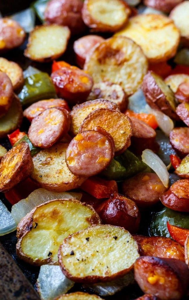 Recept na opékané brambory s uzeninou