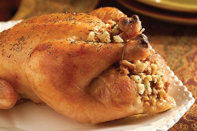 Recept na pečené kuře s nádivkou.