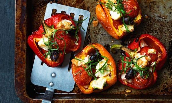 Pečené papriky s feta sýrem