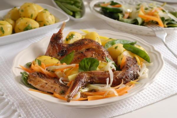 Pečený králík na zelenině