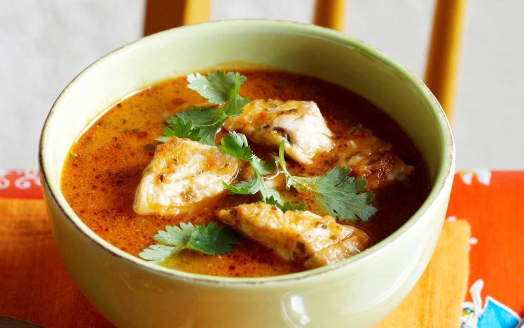 Pikantní rybí polévka z filé