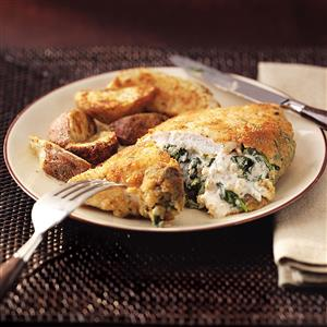 Hotový recept na plněné kuřecí kapsy se špenátem