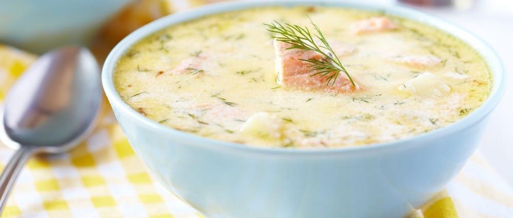 Polévka z rybího filé s cuketou