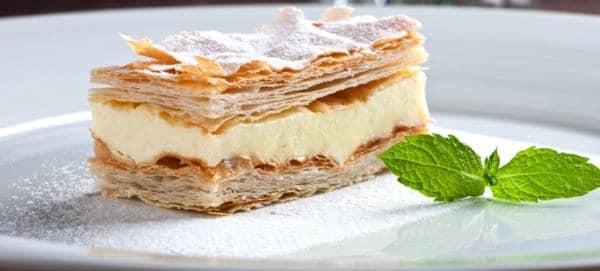 Pudinkový koláč  z listového těsta