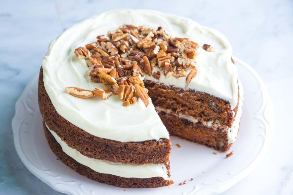 zdravý dort z mrkve