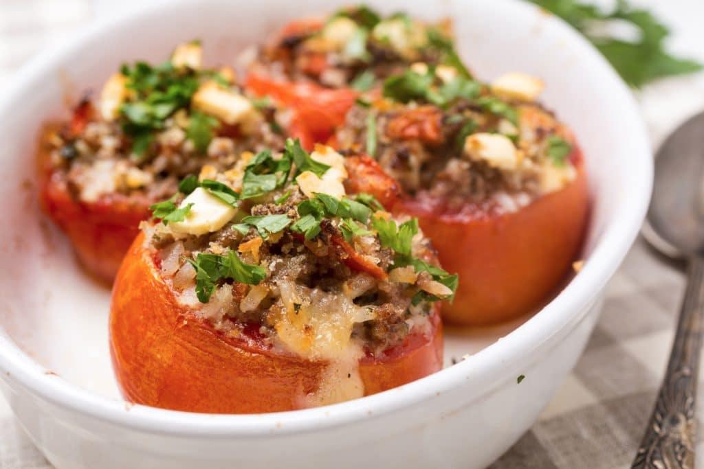 Zapečená rajčata s mletým masem