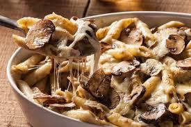 Hotový recept na zapékané těstoviny s houbami