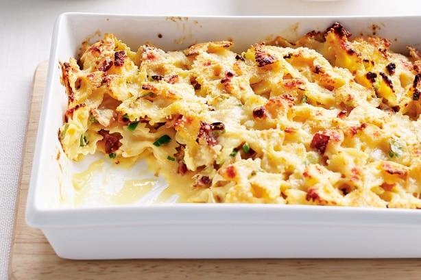 Hotový recept na zapékané těstoviny s uzeným masem