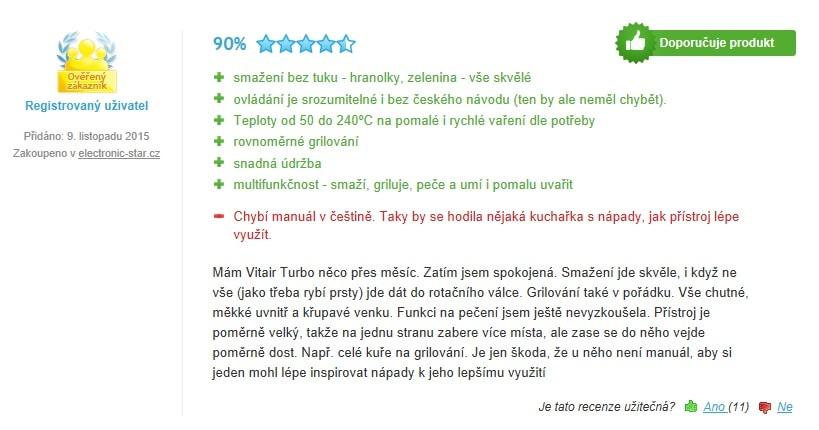 Klarstein VitAir Turbo - recenze 3