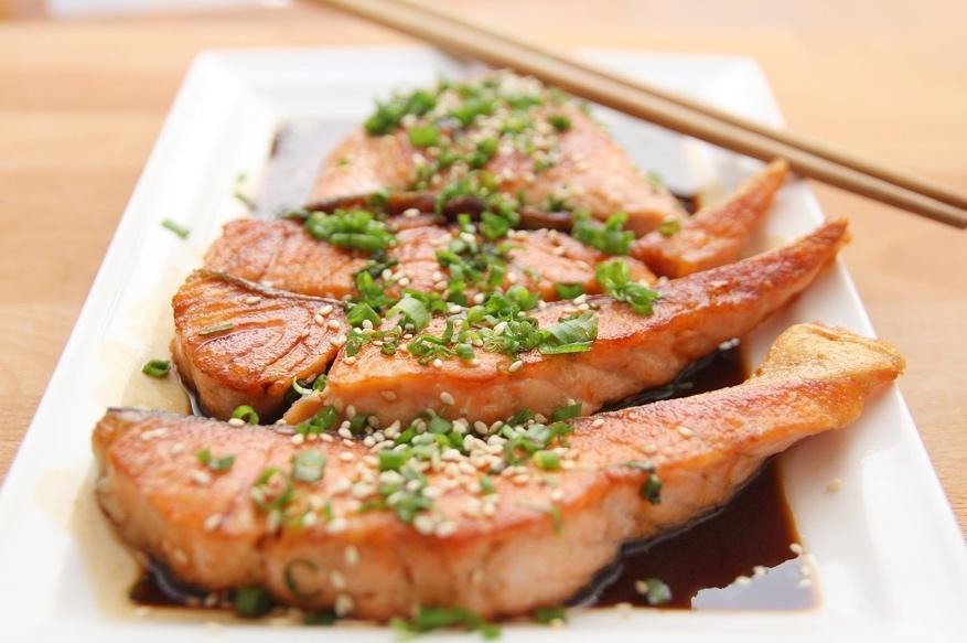 Losos na talíři - vhodný do Dukanovo diety.