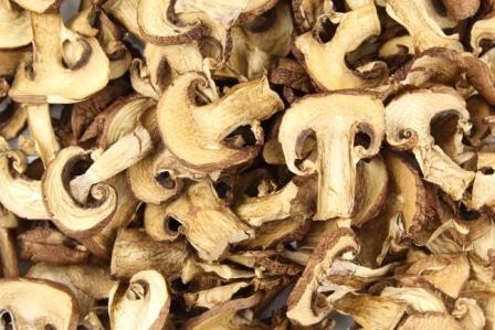 Sušené houby jsou klasika.