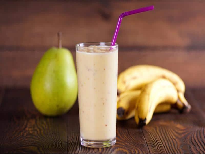 Banánové smoothie s hruškami