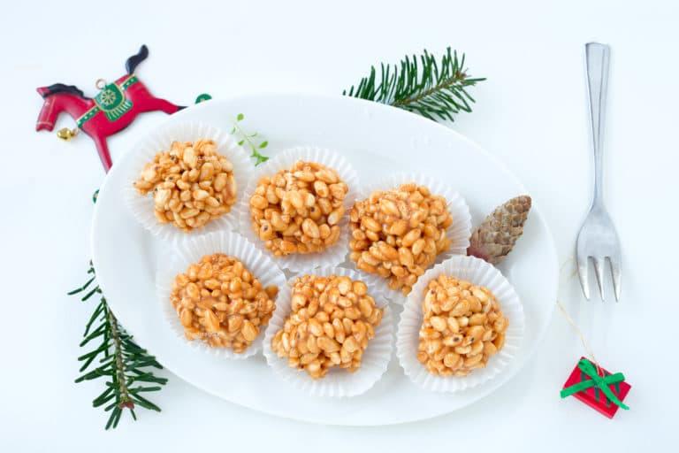 vánoční kuličky z burizonů jako sladké jednohubky