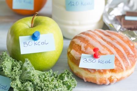 Kolik kalorií obsahuje kobliha a kolik jablko?