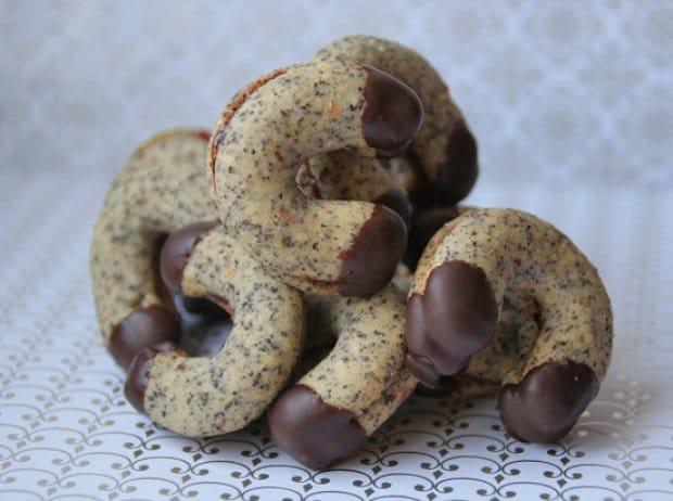 slepované makové rohlíčky s čokoládou