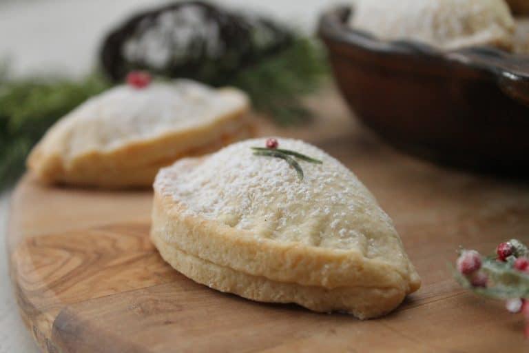 Vánoční cukroví plněné mušle.