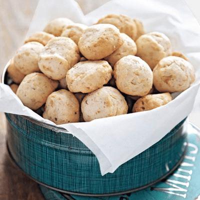 tvarohové ořechové cukroví
