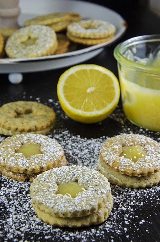 citronové lepené linecké cukroví