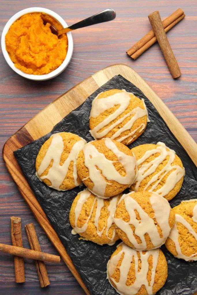 Křupavé domácí sušenky cookies s dýní hokkaido.