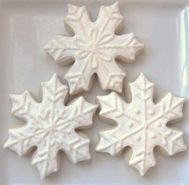 Sněhové vločky jako vánoční cukroví.