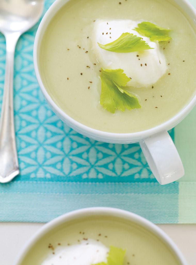 krém z celeru s jogurtem