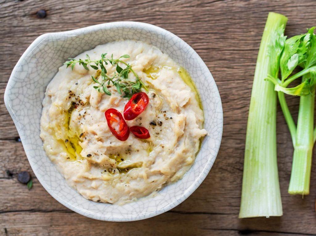 Recept na hummus z řapíkatého celeru