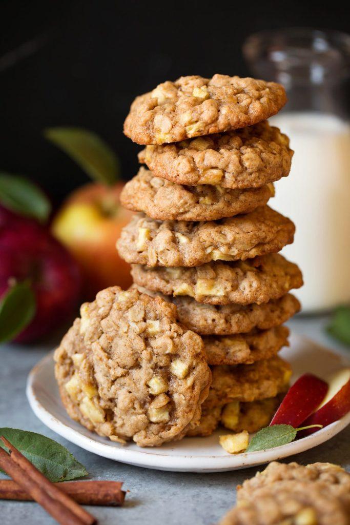 sušenky z ovesných vloček s jablky