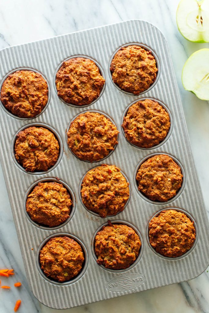 jablkové muffiny s mrkví