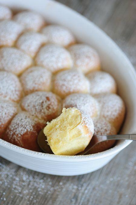 Recept na sladké svatební buchtičky s cukrem.