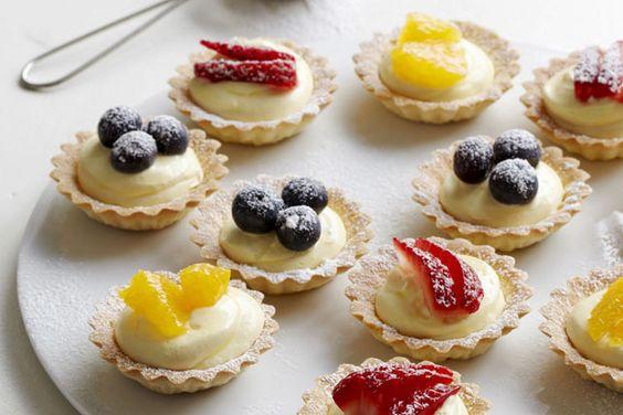 Recept na mini ovocné košíčky na svatbu.
