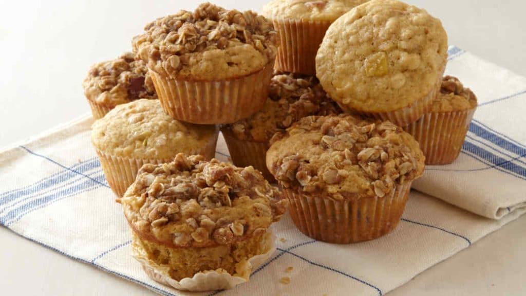 vločkové jablečné muffiny