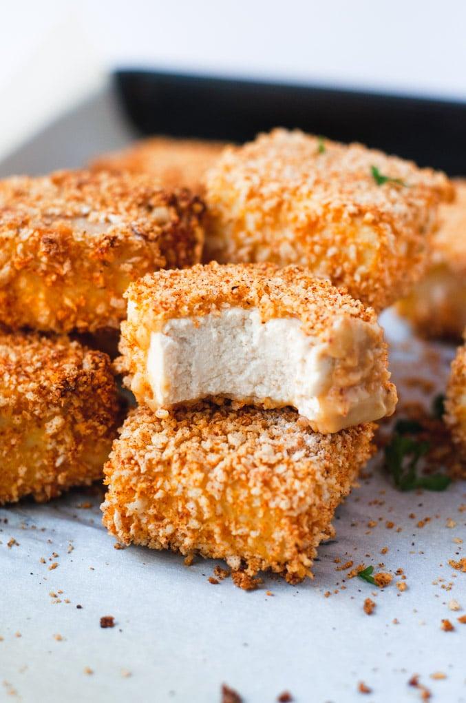 Recept na pečené tofu nugetky.