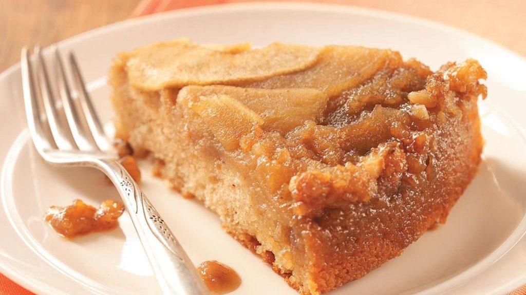 koláč s tvarohem a hruškami