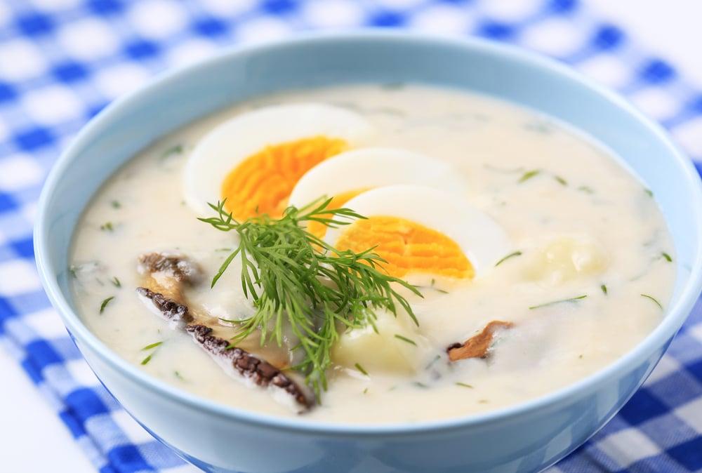 Česká polévka se smetanou - kulajda.