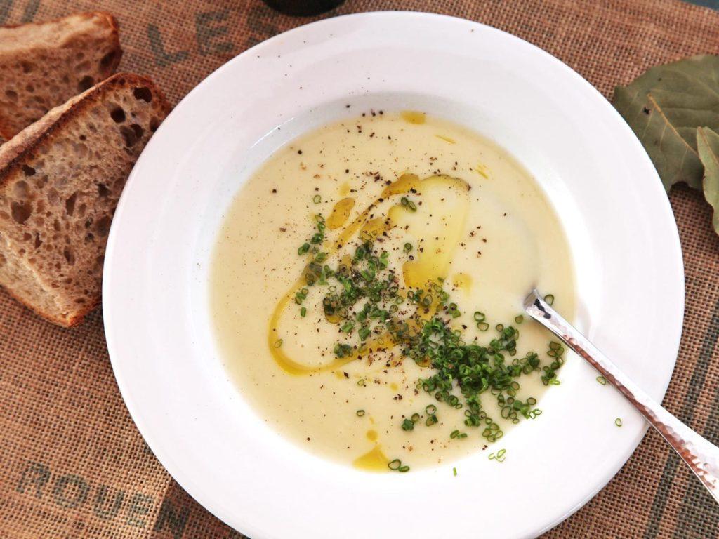babiččina pórková polévka