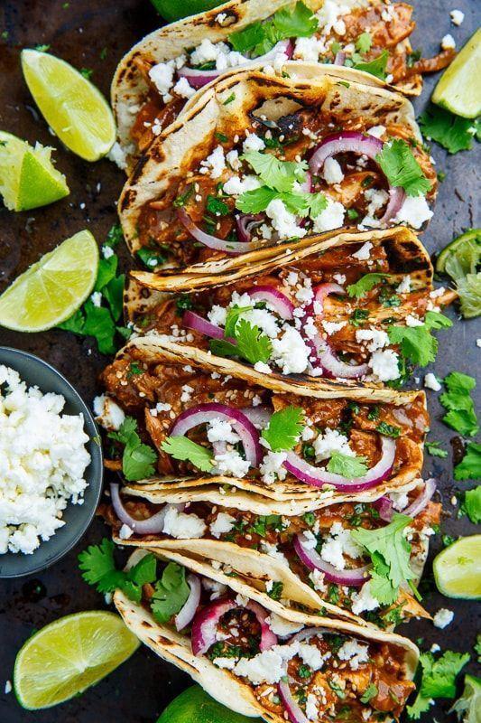 Tacos posypané koriandrem